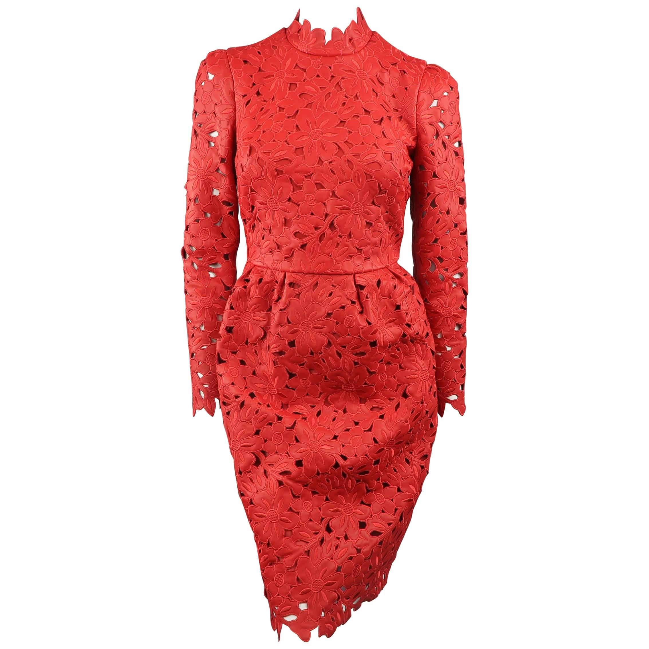 939c569e13d Valentino Red Leather Dress - 50th Anniversary - Fall 2012 Runway - Retail   9800 For Sale at 1stdibs