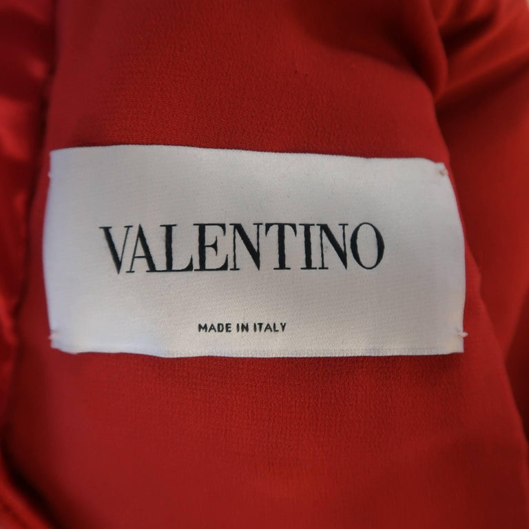 Valentino Dress - 50th Anniversary - Fall 2012 Runway - Red, Leather, Cocktail  For Sale 7
