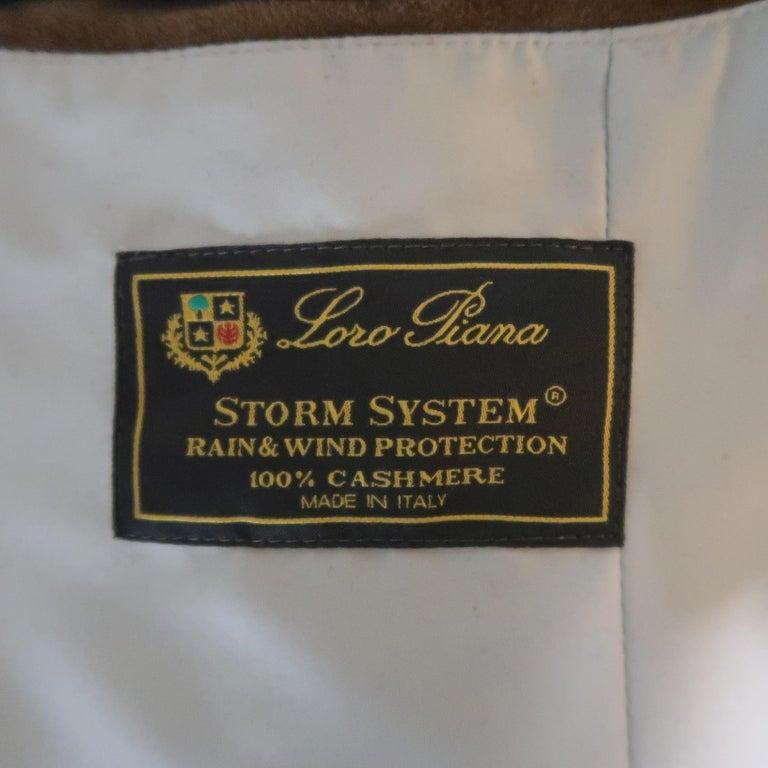 LORO PIANA XL Oatmeal Solid Cashmere Vest For Sale 2