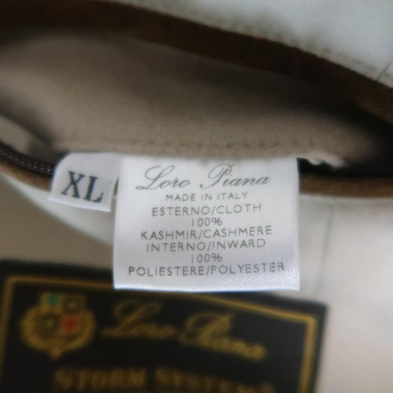 LORO PIANA XL Oatmeal Solid Cashmere Vest For Sale 3