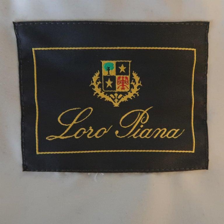 LORO PIANA XL Oatmeal Solid Cashmere Vest For Sale 4