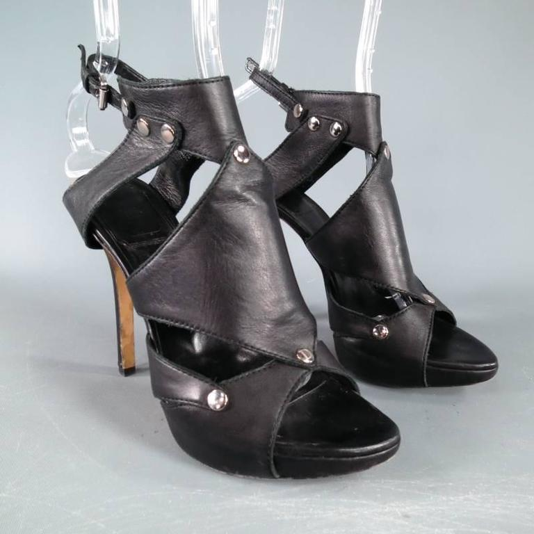 CHRISTIAN DIOR Size 6.5 Black Leather