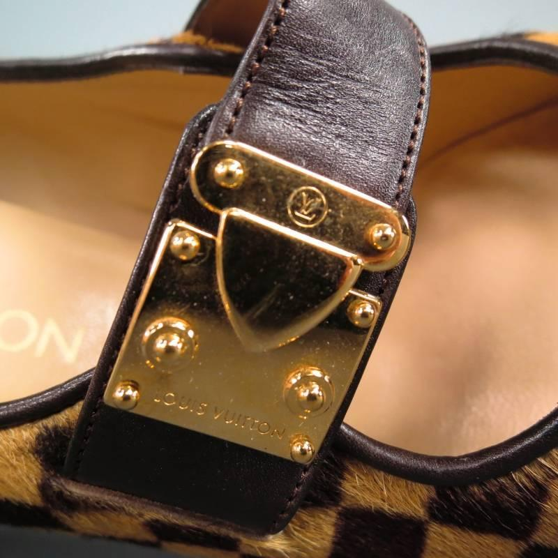 6ce0201d70e Louis Vuitton Brown Checkered Shoes