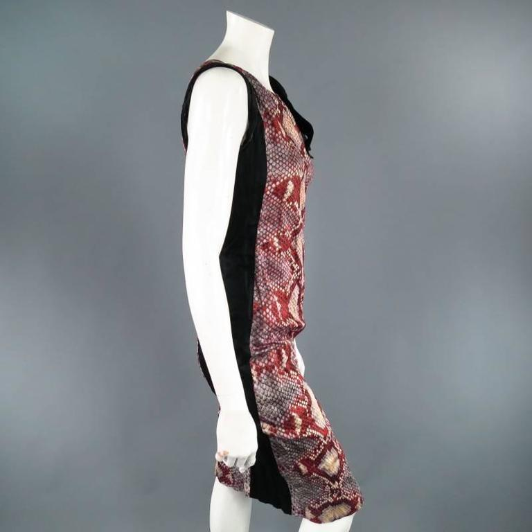 PRADA Size 2 Red Wrinkled Cotton / Silk Tied Cocktail Dress Spring 2009 7