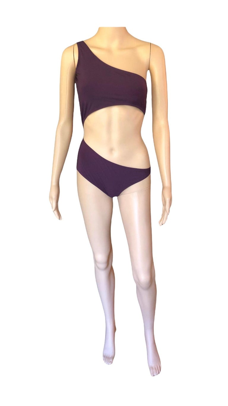 Tom Ford for Gucci S/S 2000 Sexy Cutout One Shoulder Bodysuit Swimsuit Size M  Excellent Condition!