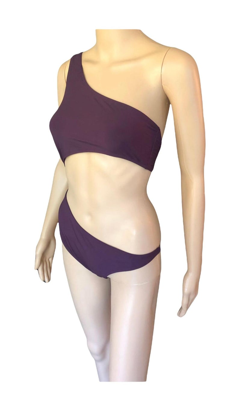 Tom Ford for Gucci S/S 2000 Cutout One Shoulder Bodysuit Swimsuit In Excellent Condition For Sale In Totowa, NJ