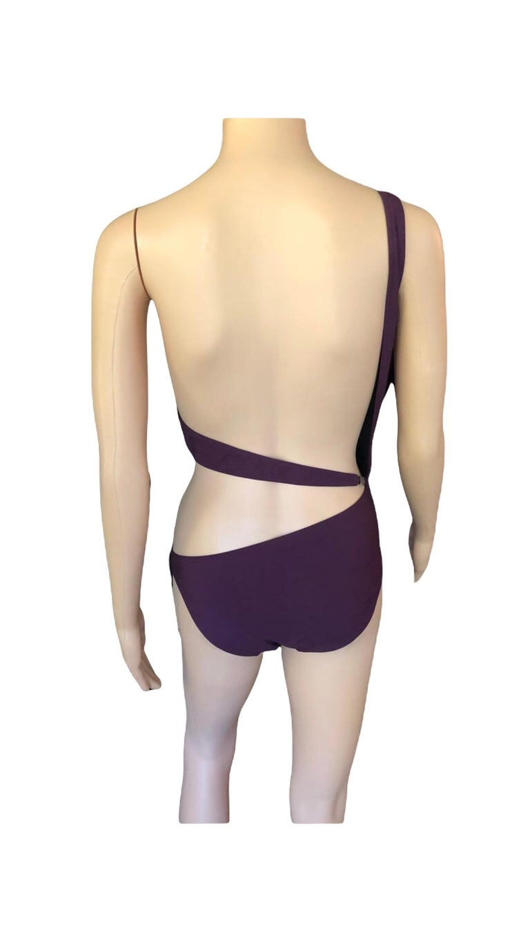 Tom Ford for Gucci S/S 2000 Cutout One Shoulder Bodysuit Swimsuit For Sale 3
