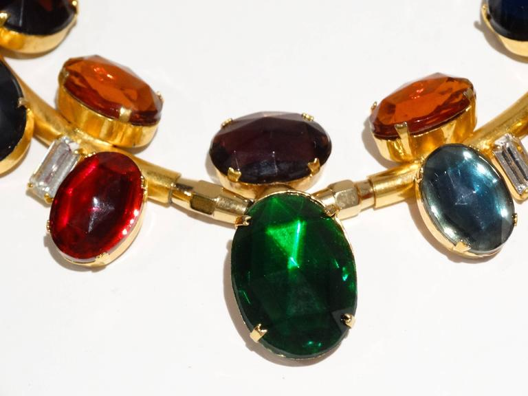 Women's Rare 1980s Emilio Pucci Gem Collar Necklace For Sale