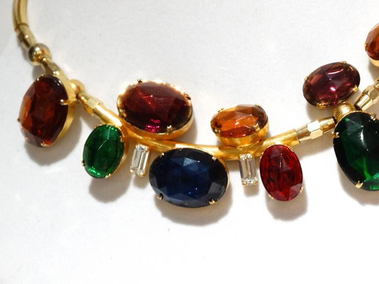 Rare 1980s Emilio Pucci Gem Collar Necklace For Sale 1