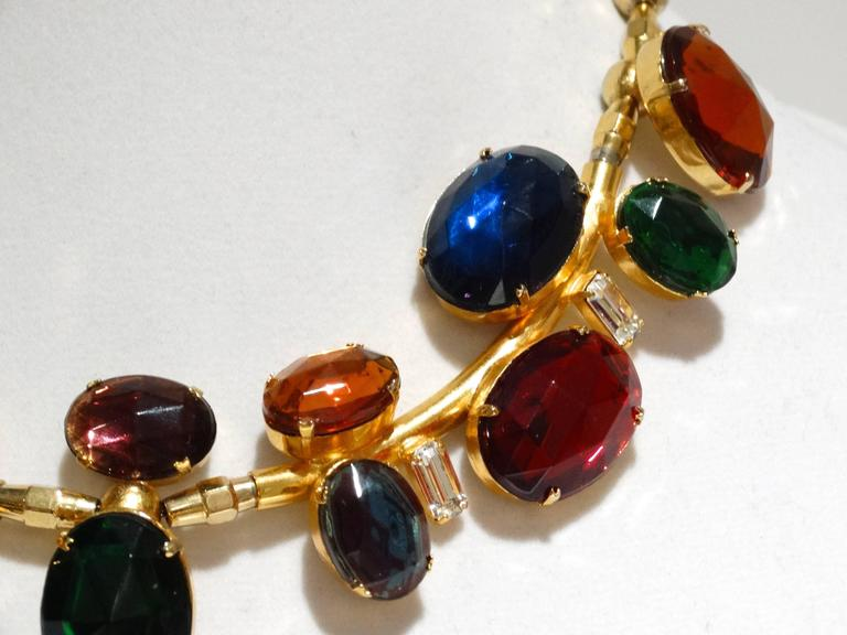Rare 1980s Emilio Pucci Gem Collar Necklace For Sale 3