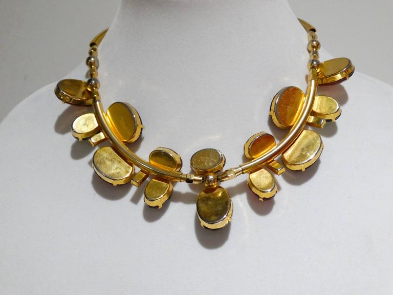 Rare 1980s Emilio Pucci Gem Collar Necklace For Sale 5