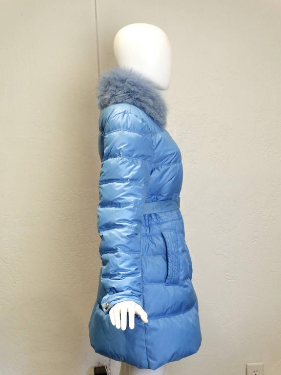 2013 Versace Collection Puffer Jacket with Fur Collar  2
