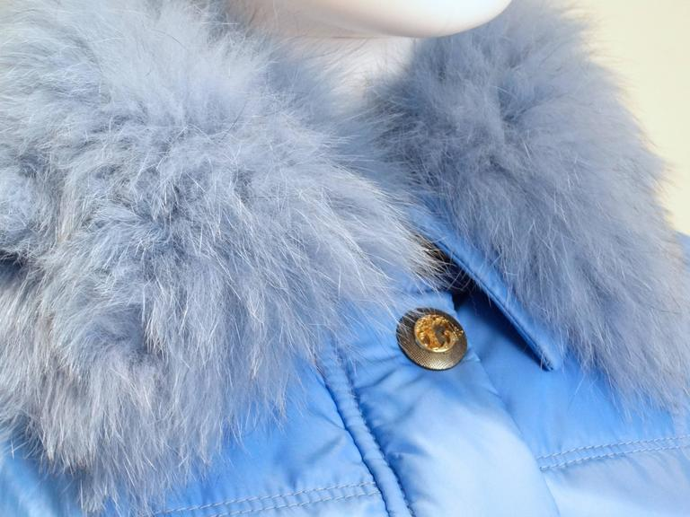 2013 Versace Collection Puffer Jacket with Fur Collar  5