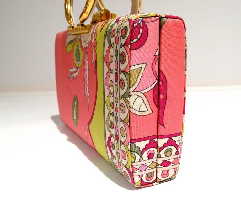 1960s Emilio Pucci Box Handbag 7