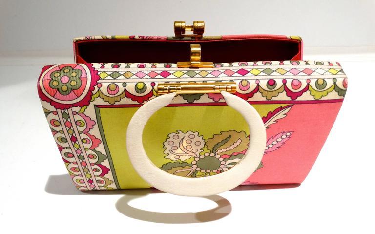 1960s Emilio Pucci Box Handbag 4