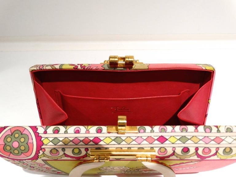 1960s Emilio Pucci Box Handbag 9