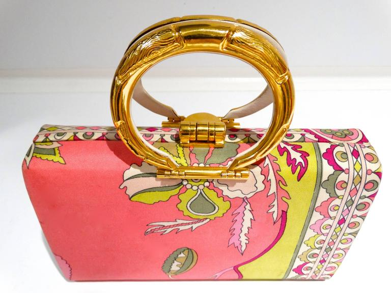 1960s Emilio Pucci Box Handbag 10