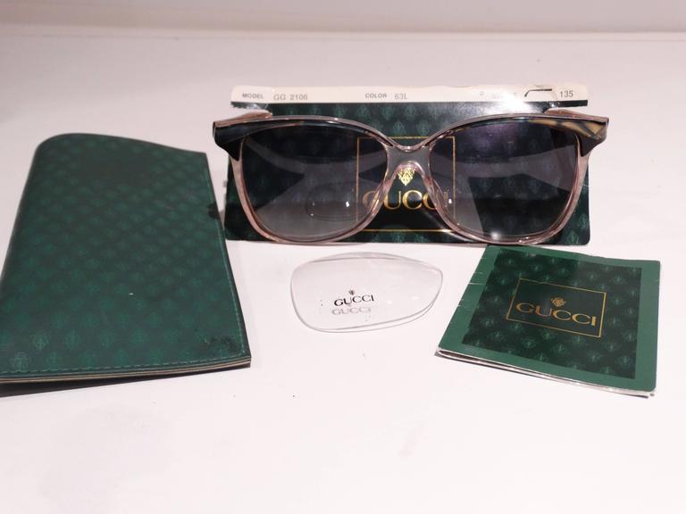 927e7fb6469 Gray Rare 1970s Mother of Pearl Gucci Sunglasses For Sale