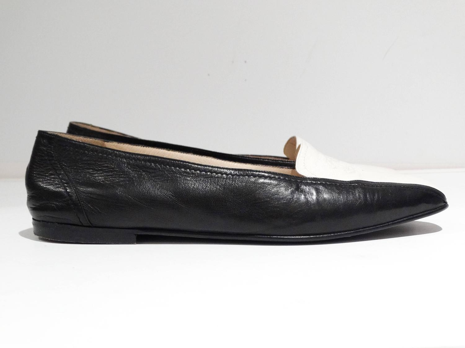 1984 Chanel Two Tone Loafer For Sale At 1stdibs