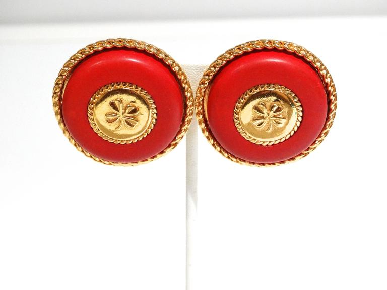 1980s Iconic Chanel Clover Earrings  For Sale 4