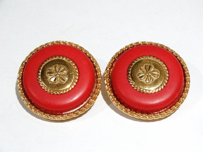 1980s Iconic Chanel Clover Earrings  For Sale 1