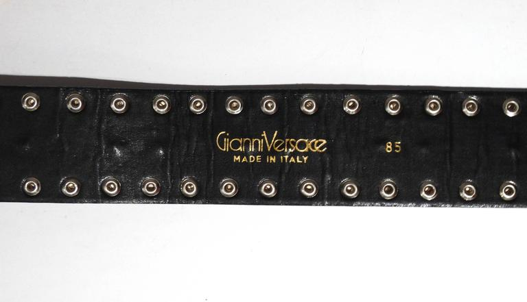 1980s Gianni Versace Iconic Runway MotorCycle Studded Belt  6