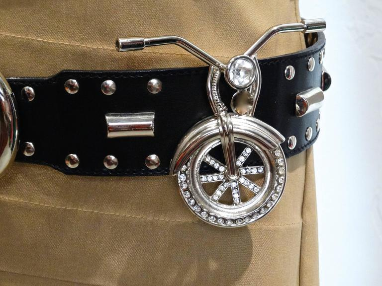 1980s Gianni Versace Iconic Runway MotorCycle Studded Belt  For Sale 5