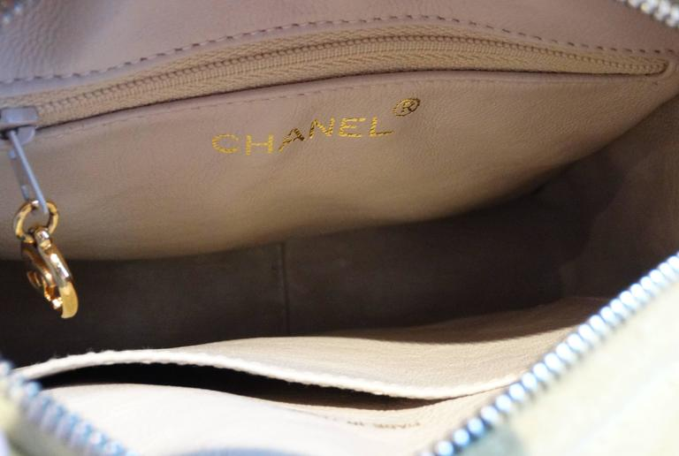 1980s CHANEL Suede Green Tassel Camera Bag  5