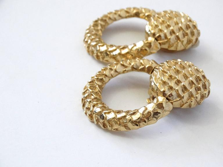 Women's 1980s Givenchy Gold Hoop Earrings For Sale