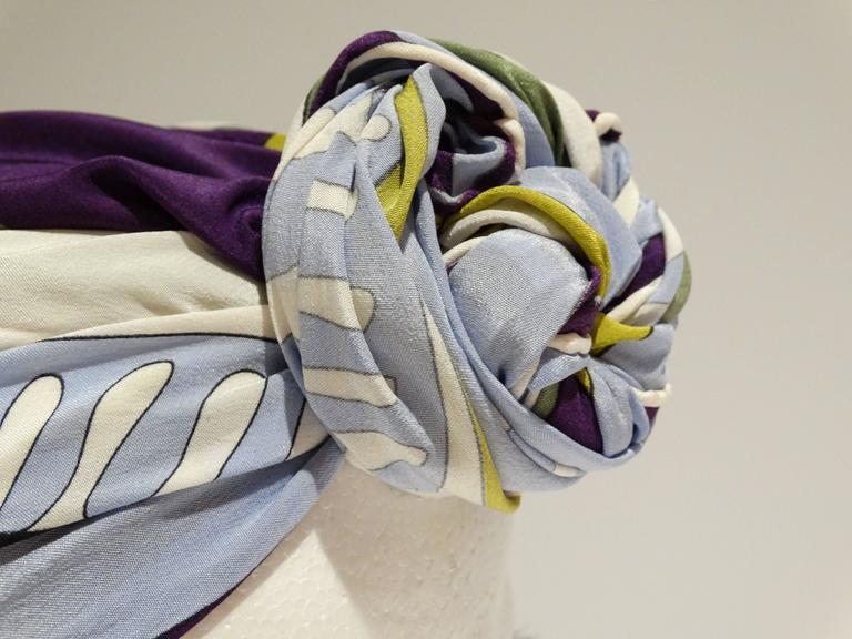 1990s Emilio Pucci Geometric Silk Scarf  3