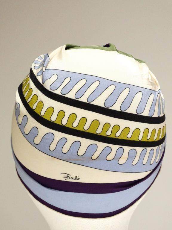 1990s Emilio Pucci Geometric Silk Scarf  6