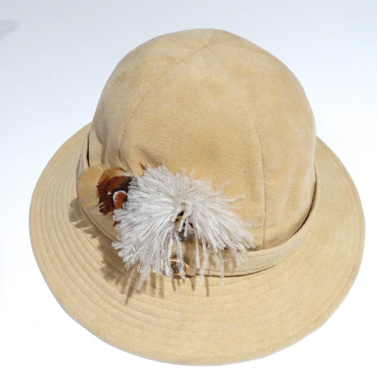 1970s Adolfo Bohemian Suede Hat  3
