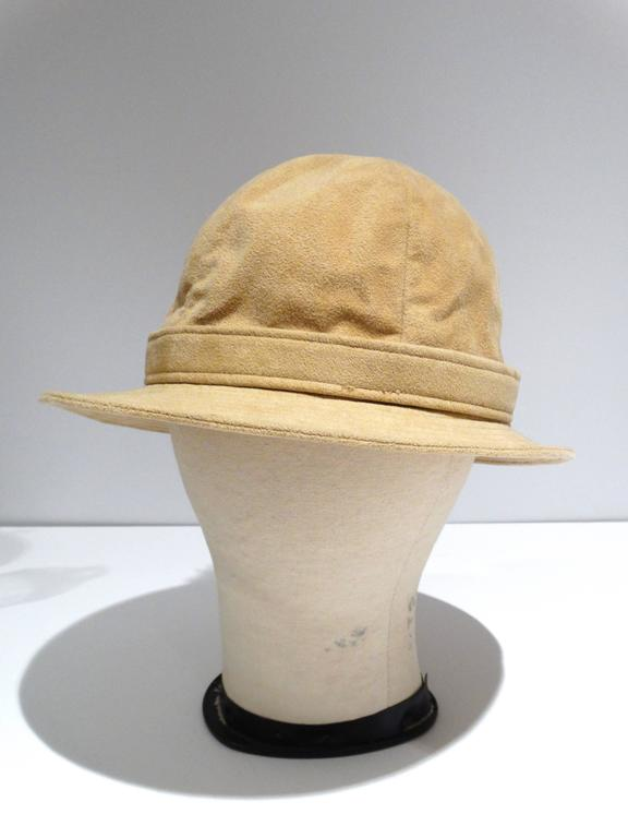 1970s Adolfo Bohemian Suede Hat  6