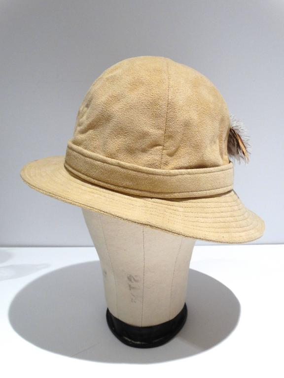 1970s Adolfo Bohemian Suede Hat  4