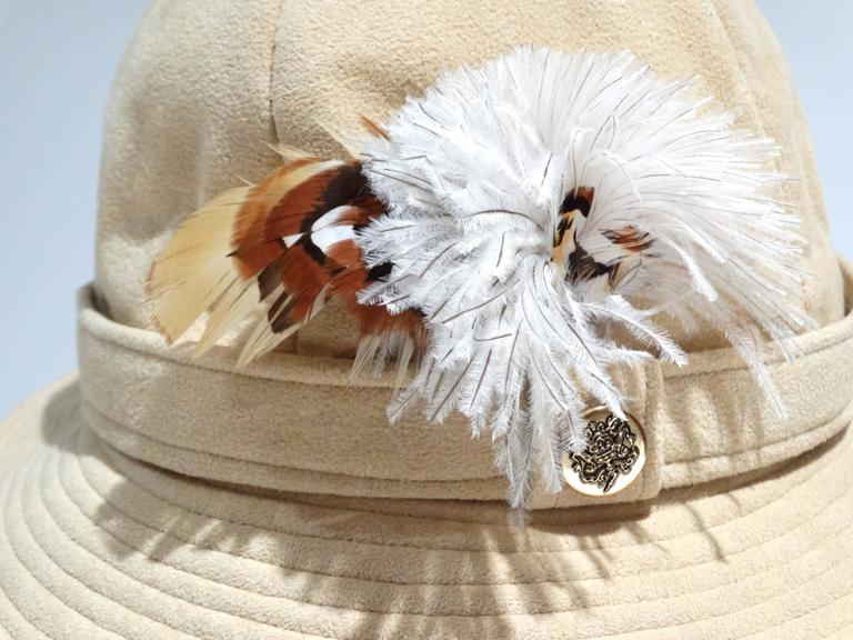 1970s Adolfo Bohemian Suede Hat  8