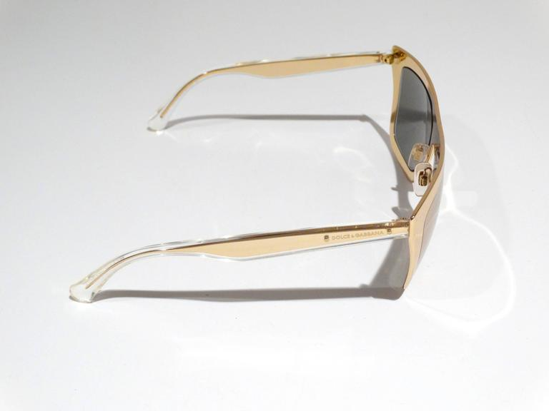 2012 SS Dolce & Gabbana 18ct Plated Gold Mirror Framed Sunglasses 4