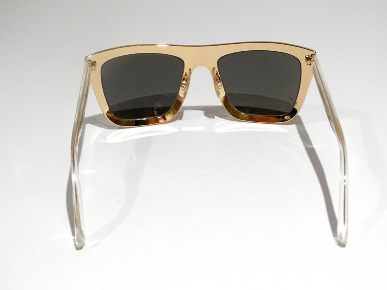 2012 SS Dolce & Gabbana 18ct Plated Gold Mirror Framed Sunglasses For Sale 2