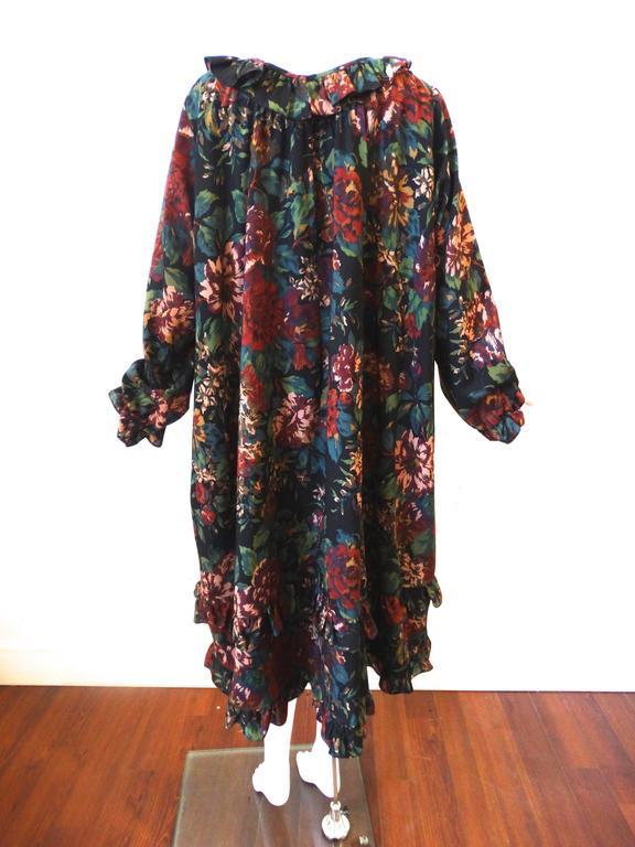 1990s Saint Laurent, Yves Rive Gouche Floral Dress 4
