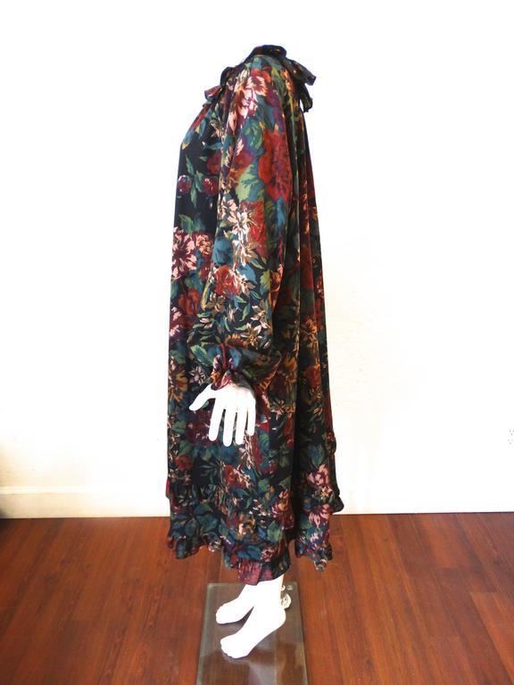 1990s Saint Laurent, Yves Rive Gouche Floral Dress 2