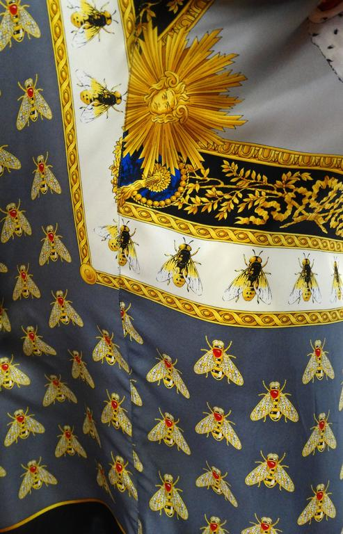 """1990s Gianni Versace """"Imperial Throne """" Print Silk Blouse For Sale 1"""