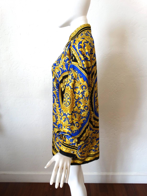 1994 versace classic v2 silk shirt barocco print for sale at 1stdibs