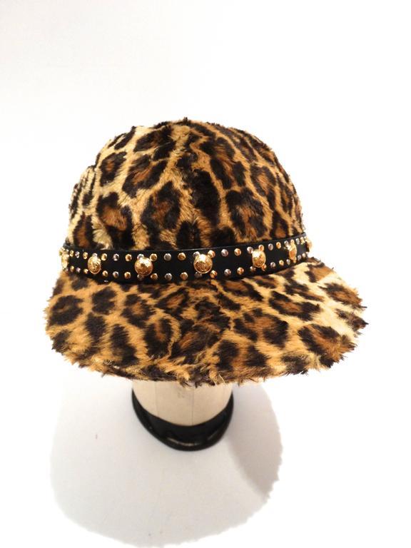 Gianni Versace Faux Leopard Medusa Hat ade7047f6ef