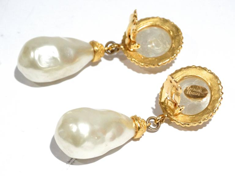 1990s Deanna Hamro Pearl Earrings For Sale 1