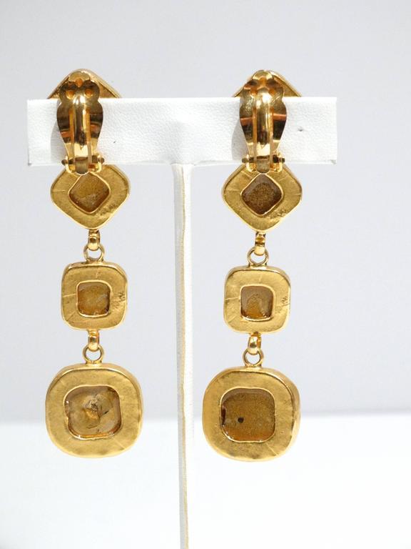 Glamorous 1990s Deanna Hamro Diamente Swarovski Earrings For Sale 1