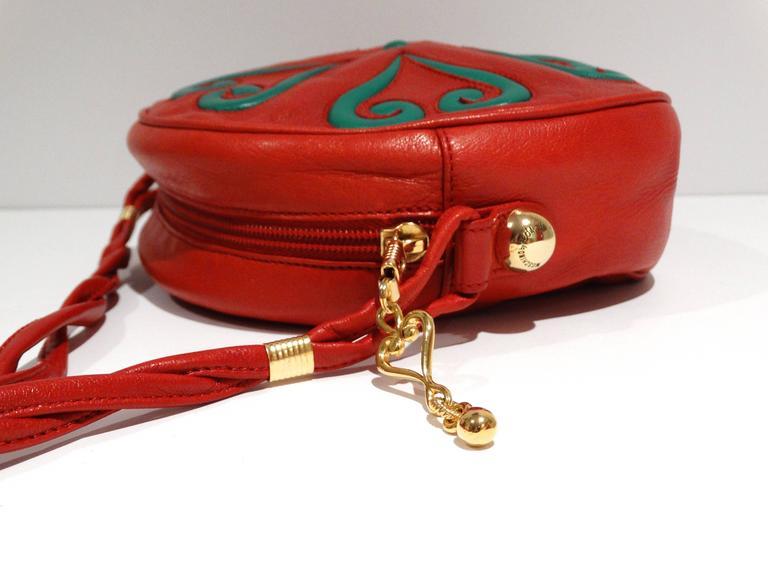 Moschino 1980s Moschino Red Grommet Bag u9o0Bf