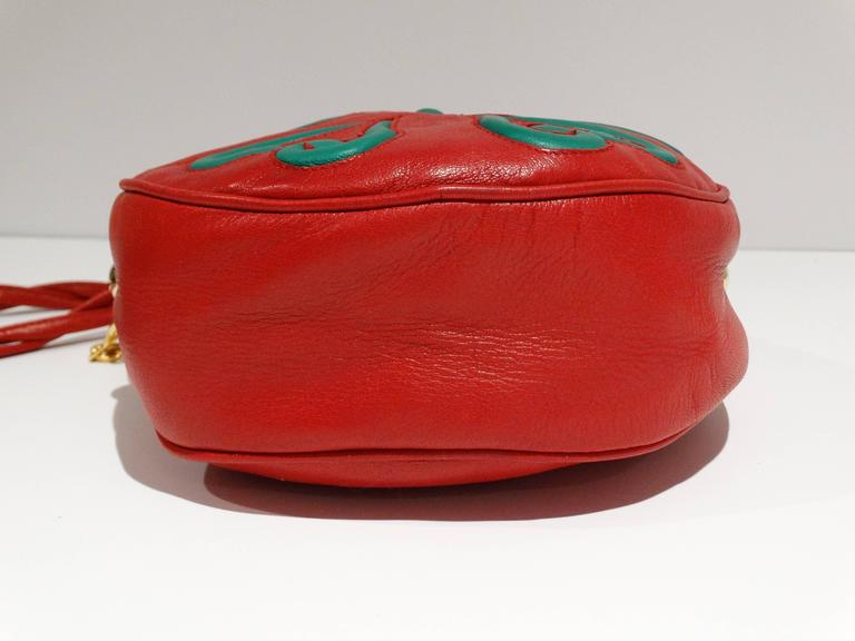 Moschino 1990s Lipstick Red Moschino By Redwall Leather Shoulder Bag 2sDrRKfEcK