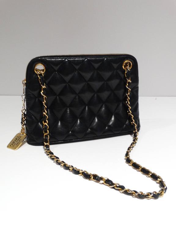 1980s Chanel 31 Rue Navy Shoulder Bag For Sale 2