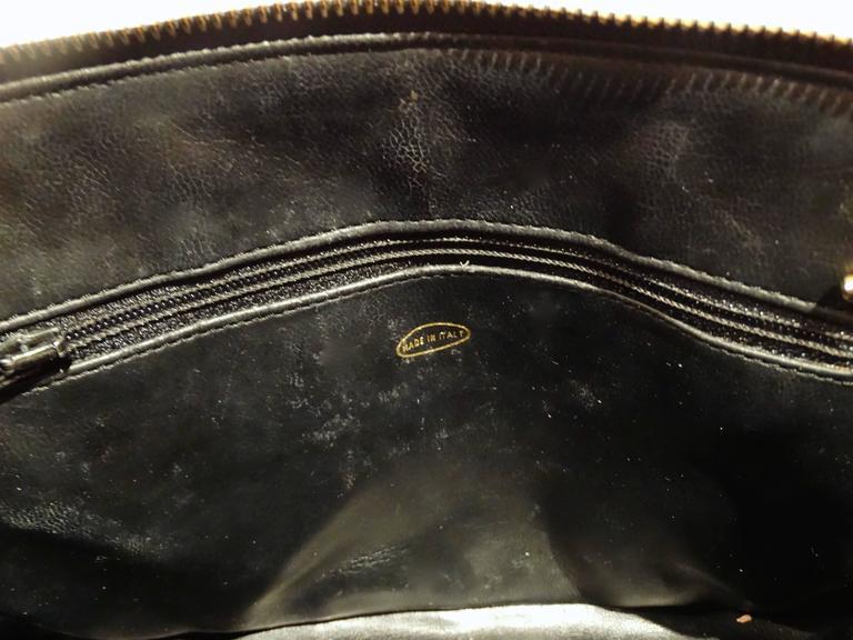 1980s Chanel 31 Rue Navy Shoulder Bag For Sale 3
