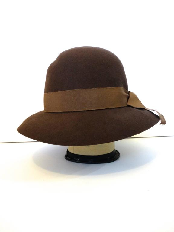 1980s Chanel 'Ladylike' Felt Hat with Bow 2