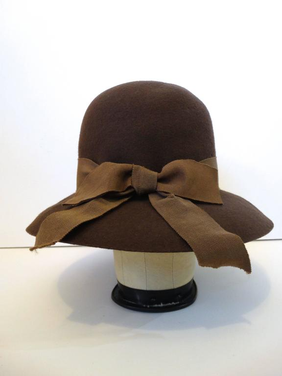 1980s Chanel 'Ladylike' Felt Hat with Bow 7